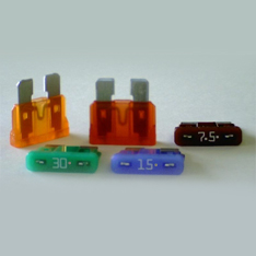10 Flachstecksicherung Mini-Sicherung 5A natur 32V